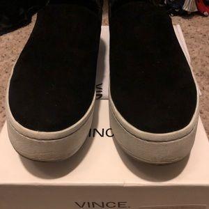 Vince platform sneaker suede black size 37